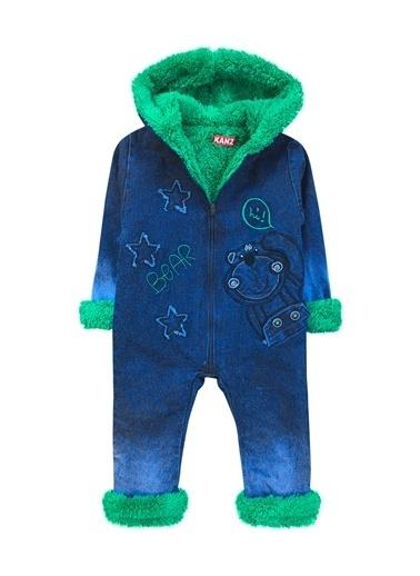 By Leyal For Kids İçi Welsoft Dışı Kot Tulum -2102 Yeşil
